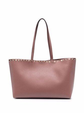 Shop Valentino Garavani Rockstud-embellished tote bag with Express Delivery - FARFETCH