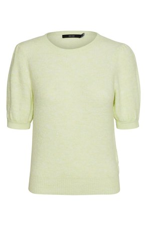 VERO MODA Lefile Puff Short Sleeve Ribbed Sweater | Nordstrom