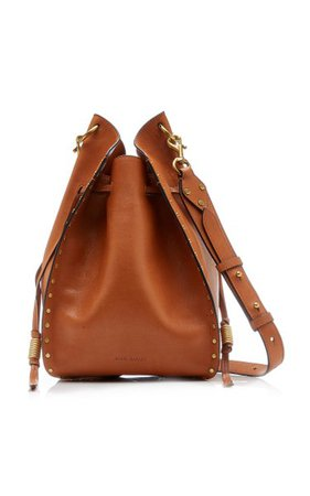 Taj Studded Leather Drawstring Bag By Isabel Marant | Moda Operandi