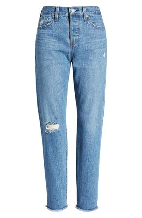 Levi's® Wedgie Icon Fit High Waist Nonstretch Straight Leg Jeans (Athens Hera) | Nordstrom