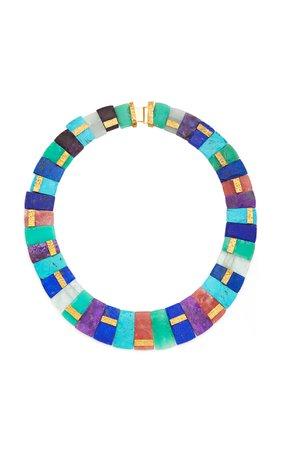 Multi Stone Collar Necklace by Guita M | Moda Operandi