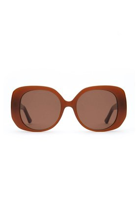 The Rendezvous Round-Frame Acetate Sunglasses by Velvet Canyon | Moda Operandi