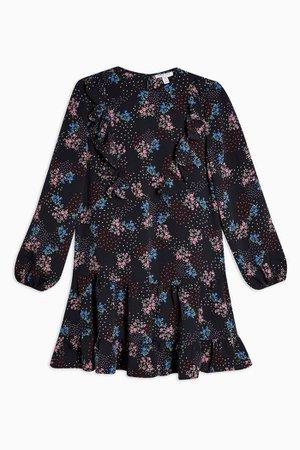 Ruffle Floral Print Chuck On Mini Dress | Topshop