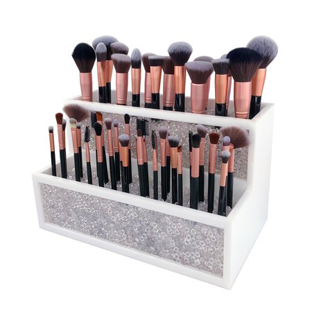 2 Tier Makeup Brush Holder Makeup Organizer Brush Holder | Etsy