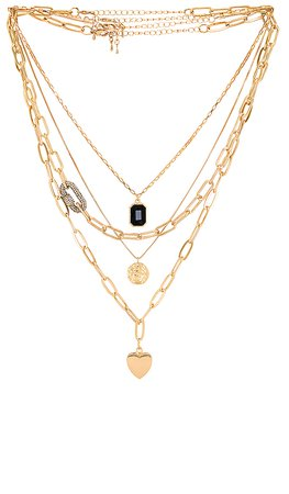 Amber Sceats Layered Pendant Necklace in Gold | REVOLVE