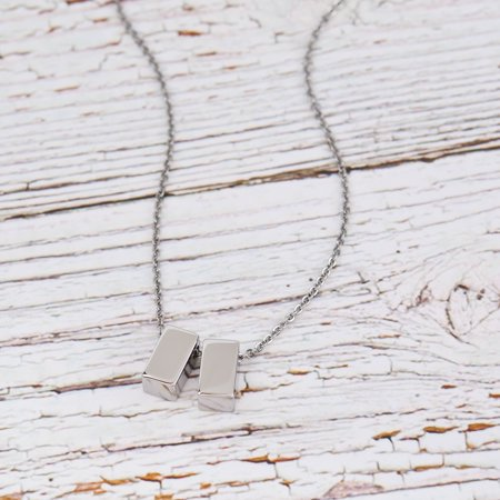 Anavia - Anavia Best Friend Necklace, Friendship Necklace, Jewelry Gift, Gift for Friend, Birthday Gift, Christmas Gift for Her, Double Cubes Pendant Necklace with Wish Card -[2 Silver Charms] - Walmart.com - Walmart.com