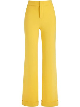 Alice+Olivia Dylan Cotton Palazzo Trousers - Farfetch