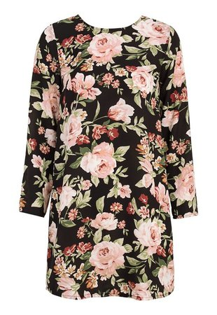 BUBBLEROOM Aline dress Black / Floral - Bubbleroom