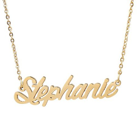 NO OTHER NAMES, Stephanie Name Necklace Classic Style Personal Initial Pendant Best Friend Gifts-in Pendant Necklaces from Jewelry & Accessories on Aliexpress.com | Alibaba Group