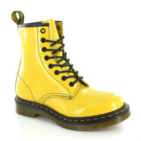 Doc Martens Yellow Leather Boots