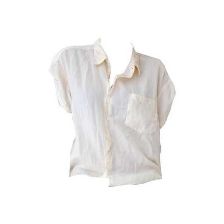 short sleeved white button up