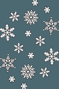Snowflake Clipart trail 2 - 198 X 296   Dumielauxepices.net