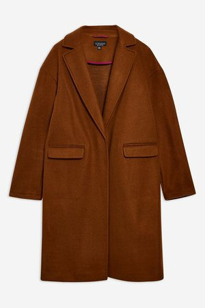 Relaxed Coat - Clothing- Topshop
