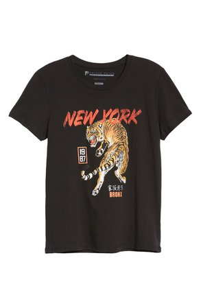 Prince Peter NY Tiger Graphic Tee black