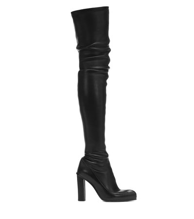 Alexander McQueen - Peak leather over-the-knee boots | Mytheresa