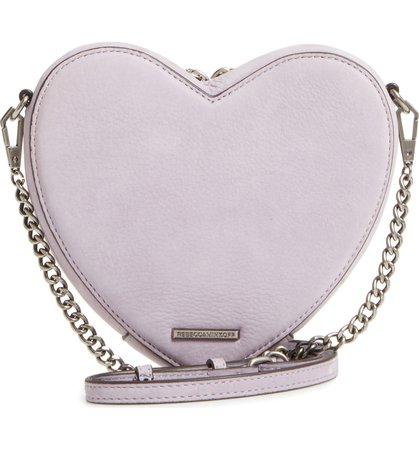 Pastel Purple Heart-Shaped Bag