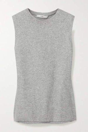 Cotton-blend Terry Tank - Gray