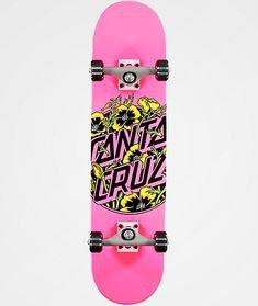 """Santa Cruz Colored Poppy 7.75"""" Skateboard"""