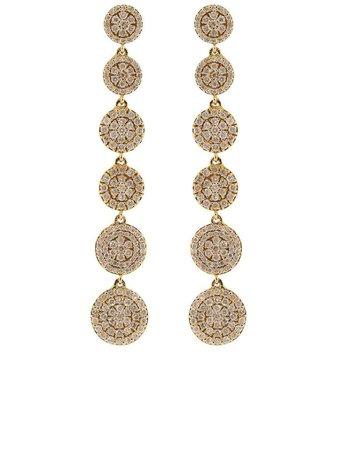 Graziela 18kt rose gold diamond large Cascade earrings pink E1042050R - Farfetch