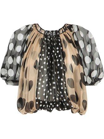 Dolce & Gabbana polka dot-print blouse - FARFETCH