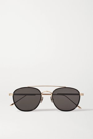 Gold Aviator-style gold-tone and acetate sunglasses | Cartier Eyewear | NET-A-PORTER