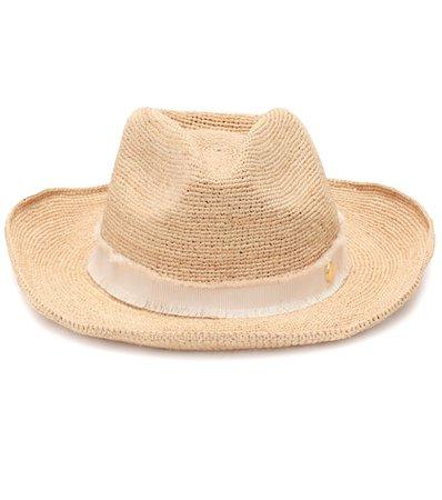 Cape Elizabeth raffia cowboy hat