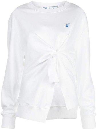 Off White knot-detail sweatshirt