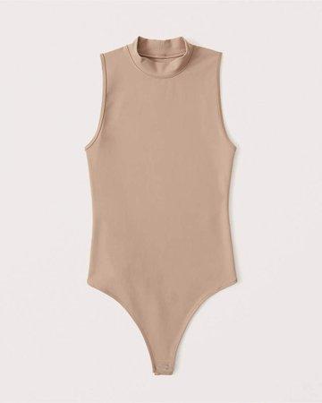 Women's Seamless Mockneck Bodysuit | Women's | Abercrombie.com
