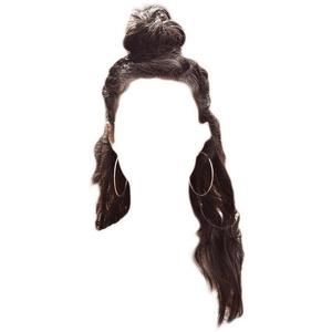 BROWN HAIR PNG TOP KNOT