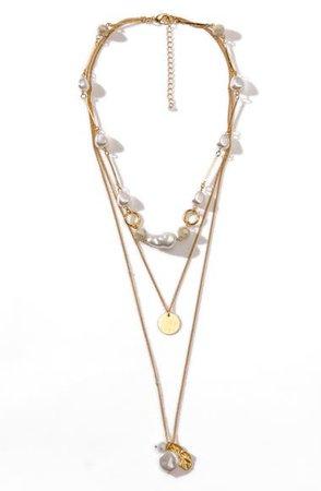 8 Other Reasons x Jenn Im Perla Imitation Pearl Layer Necklace | Nordstrom