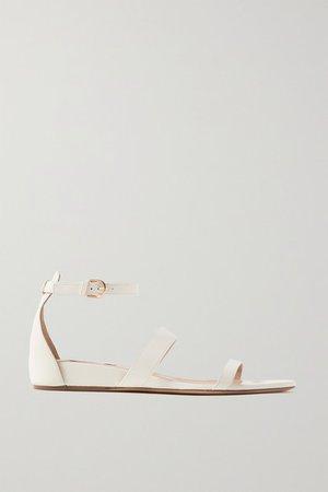 Lekker Leather Wedge Sandals - Cream