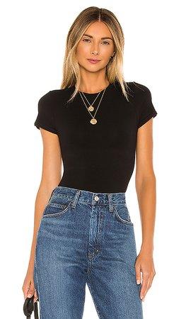 Yummie Short Sleeve Bodysuit in Black   REVOLVE