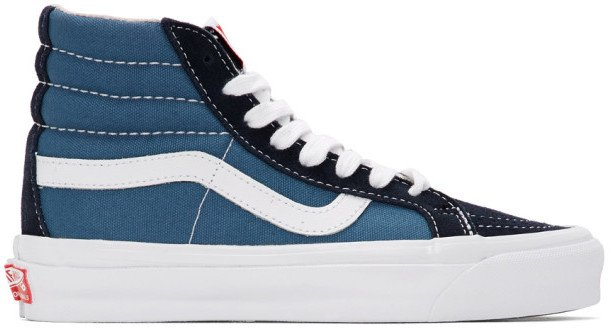 Blue and Navy OG Sk8-Hi LX Sneakers