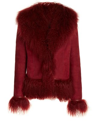Saks Potts Bon Fringed Shearling Jacket
