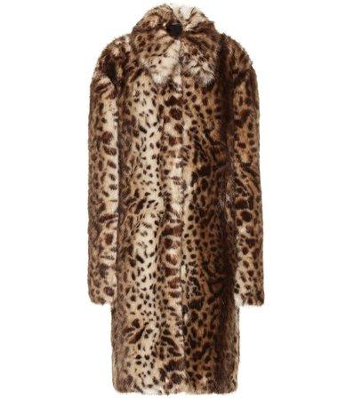 Rokh, Leopard-print faux fur coat