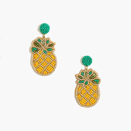 J.Crew Factory: Beaded Pineapple Statement Earrings For Women