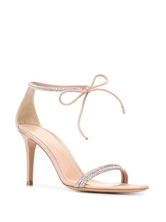 Gianvito Rossi Embellished Heeled Sandals - Farfetch