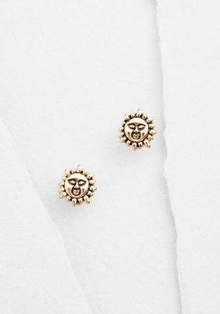 Sun Like It Hot Stud Earrings Gold | ModCloth