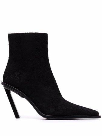 Ann Demeulemeester slanted-heel Ankle Boots - Farfetch
