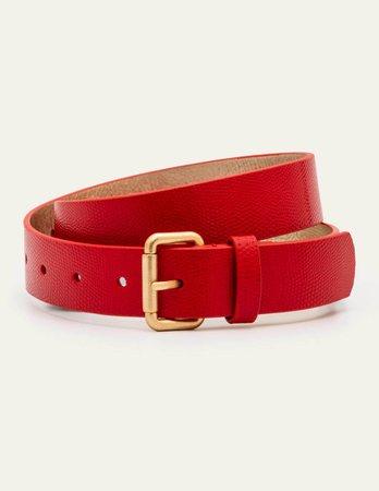 Classic Buckle Belt - Red Lizard | Boden US