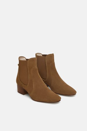 FLAT LEATHER ANKLE BOOTS - View all-SHOES-WOMAN | ZARA New Zealand