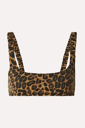 Fisch - Colombier Leopard-print Bikini Top - Leopard print
