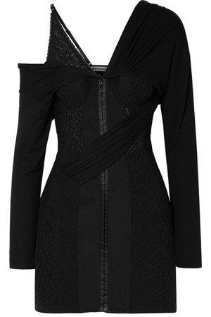 Alexander Wang - Draped lace and modal-jersey mini dress ($1050)
