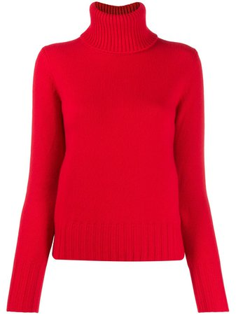 N.PEAL chunky roll neck jumper