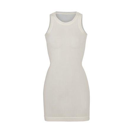 Summer Mesh High Neck Tank Dress - Bone   SKIMS