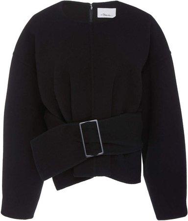 Oversized Belted Sweatshirt Top