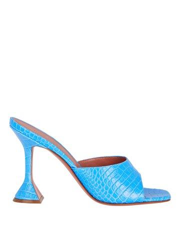Amina Muaddi Lupita Leather Sandals   INTERMIX®