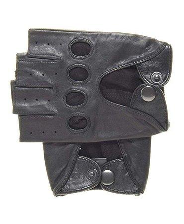 Pratt and Hart Men's Shorty Leather Driving Gloves (Fingerless) at Amazon Men's Clothing store: