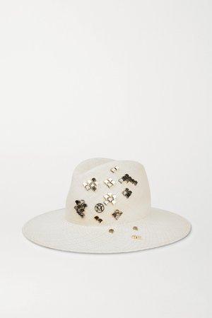 Ivory Zango studded straw hat | Maison Michel | NET-A-PORTER