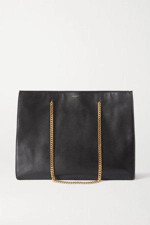 Black Medium leather tote   SAINT LAURENT   NET-A-PORTER